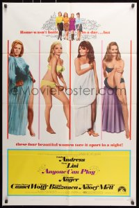 6j052 ANYONE CAN PLAY 1sh 1968 sexiest near-naked Ursula Andress, Virna Lisi, Claudine Auger & Mell!