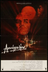6j054 APOCALYPSE NOW 1sh 1979 Francis Ford Coppola, classic Bob Peak art of Brando and Sheen!