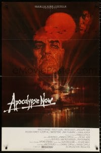 6j055 APOCALYPSE NOW int'l 1sh 1979 Francis Ford Coppola, classic Peak art of Brando and Sheen!