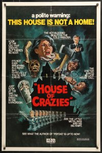 6j065 ASYLUM 1sh R1980 Peter Cushing, Britt Ekland, horror, House of Crazies!