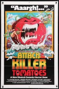 6j068 ATTACK OF THE KILLER TOMATOES 1sh 1979 wacky monster artwork by David Weisman!