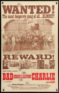 6j075 BAD CHARLESTON CHARLIE 1sh 1973 Ivan Nagy, Ross Hagen, rare wanted poster design!