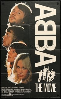 6j015 ABBA: THE MOVIE English 1sh 1978 Swedish pop rock, headshots of all 4 band members!