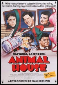 6j047 ANIMAL HOUSE English 1sh 1978 John Belushi, Landis classic, wacky portraits!