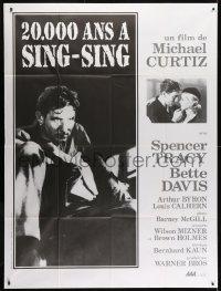 6k519 20,000 YEARS IN SING SING French 1p R1980s Spencer Tracy in prison & with Bette Davis, Curtiz