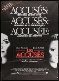 6k524 ACCUSED French 1p 1988 Jodie Foster, Kelly McGillis, the case that shocked a nation!