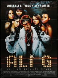 6k529 ALI G INDAHOUSE French 1p 2002 great image of thug Sacha Baron Cohen with sexy girls & guns!
