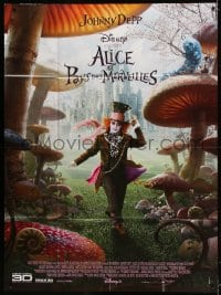 6k530 ALICE IN WONDERLAND French 1p 2010 directed by Tim Burton, Johnny Depp as the Mad Hatter!