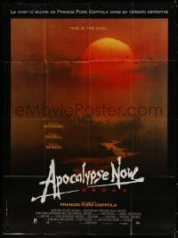 6k536 APOCALYPSE NOW French 1p R2001 revised version w/ two major formerly cut scenes, Bob Peak art!