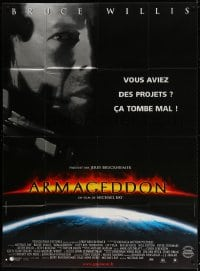 6k537 ARMAGEDDON French 1p 1998 Michael Bay sci-fi, different image of Bruce Willis!