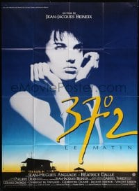 6k554 BETTY BLUE French 1p 1986 Jean-Jacques Beineix, close up of pensive Beatrice Dalle in sky!