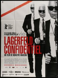 6k761 LAGERFELD CONFIDENTIAL French 1p 2007 three images of fashion designer Karl Lagerfeld!