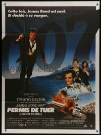 6k772 LICENCE TO KILL French 1p 1989 Timothy Dalton as James Bond 007, he's out for revenge!