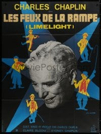 6k773 LIMELIGHT French 1p R1970s many artwork images of Charlie Chaplin by Leo Kouper + photo!