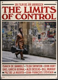6k774 LIMITS OF CONTROL French 1p 2009 Jim Jarmusch directed, Isaach De Bankole with guitar!