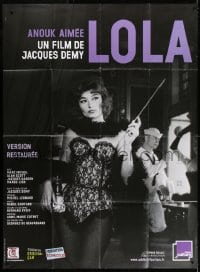 6k781 LOLA French 1p R2012 full-length photo of sexy cabaret singer Anouk Aimee, Jacques Demy