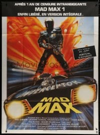 6k789 MAD MAX French 1p R1983 George Miller classic, different art by Hamagami, Interceptor!