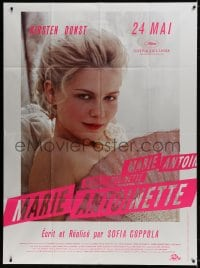 6k799 MARIE ANTOINETTE advance French 1p 2006 Kirsten Dunst showing face, directed by Sofia Coppola