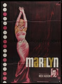 6k800 MARILYN French 1p R1982 sexy full-length art of young Monroe by Boris Grinsson!
