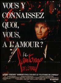6k844 PHANTOM OF THE OPERA French 1p 1990 Robert Englund was Freddy and now he's the phantom!