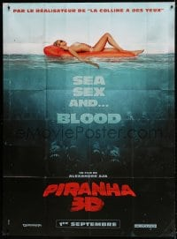 6k848 PIRANHA 3D teaser French 1p 2010 sexy girl in bikini with monster fish, sea, sex & blood!