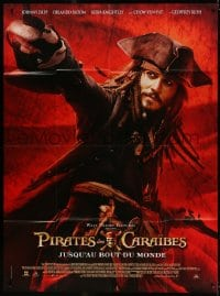 6k849 PIRATES OF THE CARIBBEAN: AT WORLD'S END French 1p 2007 Johnny Depp as Captain Jack Sparrow!
