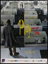 6k852 PLAYTIME French 1p R2014 Jacques Tati, cool different image of Tati standing over cubicles!