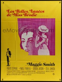 6k861 PRIME OF MISS JEAN BRODIE French 1p 1971 sexy art of Maggie Smith & Pamela Franklin!