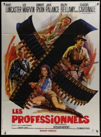 6k865 PROFESSIONALS French 1p R1970s art of Lancaster, Lee Marvin & sexy Claudia Cardinale!