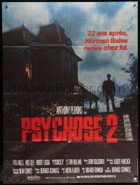 6k867 PSYCHO II French 1p 1983 Anthony Perkins as Norman Bates, cool creepy image of classic house!