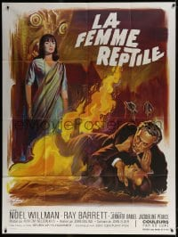 6k881 REPTILE French 1p 1967 snake woman Jacqueline Pearce, different horror art by Boris Grinsson!