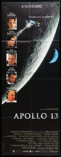 6k490 APOLLO 13 French door panel 1995 Tom Hanks, Kevin Bacon & Bill Paxton, directed by Ron Howard