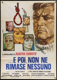 6k280 AND THEN THERE WERE NONE Italian 1p 1975 Oliver Reed, Elke Sommer, great art by Avelli!