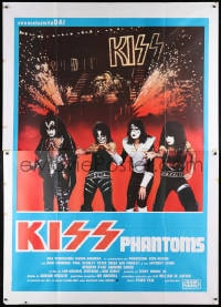 6k155 ATTACK OF THE PHANTOMS Italian 2p 1978 portrait of KISS, Criss, Frehley, Simmons & Stanley!