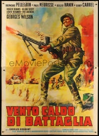 6k158 BELLS WITHOUT JOY Italian 2p 1963 Carillons sans joie, art of WWII soldier with machine gun!