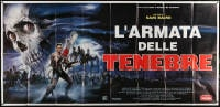 6k145 ARMY OF DARKNESS Italian 3p 1993 Sam Raimi, Sciotti art of Campbell with chainsaw hand!