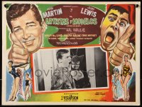 6k040 ARTISTS & MODELS Mexican LC 1955 c/u of Jerry Lewis & sexy bat lady Shirley MacLaine!