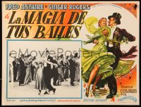 6k044 BARKLEYS OF BROADWAY Mexican LC 1949 photo & art of Fred Astaire & Ginger Rogers dancing!