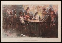 6r092 RAISE IN THE SOUTH 14x20 art print 1890s-1930s great art of a poker game played down south!