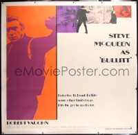 6s001 BULLITT linen int'l 6sh 1968 full-length Steve McQueen + cool montage, different & ultra rare!