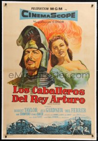 6t367 KNIGHTS OF THE ROUND TABLE linen Argentinean 1954 Robert Taylor as Lancelot, sexy Ava Gardner!