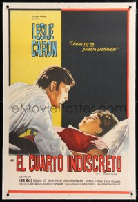 6t370 L-SHAPED ROOM linen Argentinean 1964 Leslie Caron, Tom Bell, directed by Bryan Forbes!