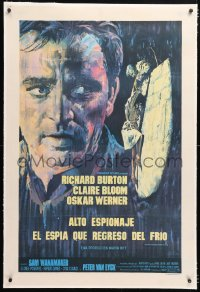 6t379 SPY WHO CAME IN FROM THE COLD linen Argentinean 1965 Richard Burton, John Le Carre, rare!