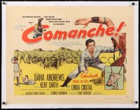 6t008 COMANCHE linen style B 1/2sh 1956 Dana Andrews & Cristal, killed more white men than any other