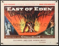 6t009 EAST OF EDEN linen 1/2sh 1955 first James Dean, John Steinbeck, directed by Elia Kazan!