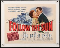 6t010 FOLLOW THE SUN linen 1/2sh 1951 Glenn Ford in the story of Valerie and pro golfer Ben Hogan!