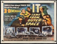 6t016 IT CAME FROM OUTER SPACE linen style A 1/2sh 1953 Ray Bradbury, Jack Arnold classic 3D sci-fi!