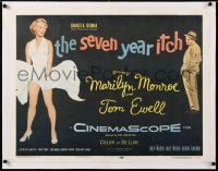 6t027 SEVEN YEAR ITCH linen 1/2sh 1955 Billy Wilder, best image of Marilyn Monroe's skirt blowing!