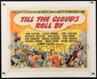 6t029 TILL THE CLOUDS ROLL BY linen style B 1/2sh 1946 montage of Hollywood's MGM all-stars, rare!