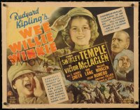 6t030 WEE WILLIE WINKIE linen style B 1/2sh 1937 John Ford, Shirley Temple, Rudyard Kipling, rare!